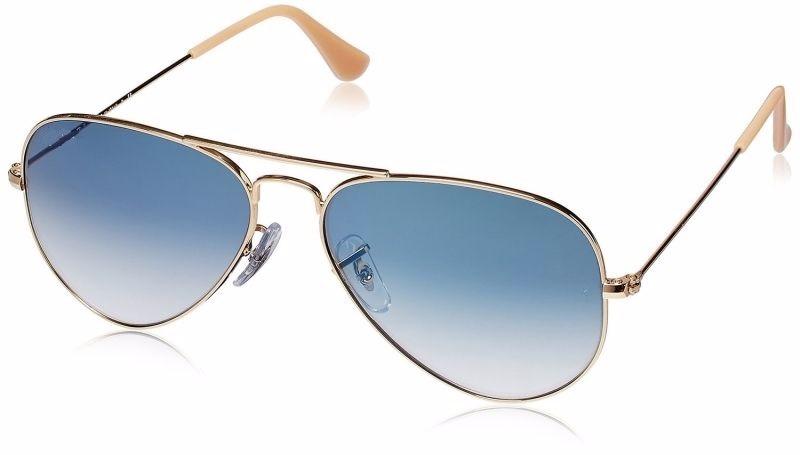 3bdcb7a1bab0e óculos feminino aviador espelhado azul degrade lente cristal. Carregando  zoom.