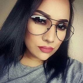 de06cd97a2e64 Óculos Feminino Aviador Sem Grau Armação Preta Estiloso Moda - R ...