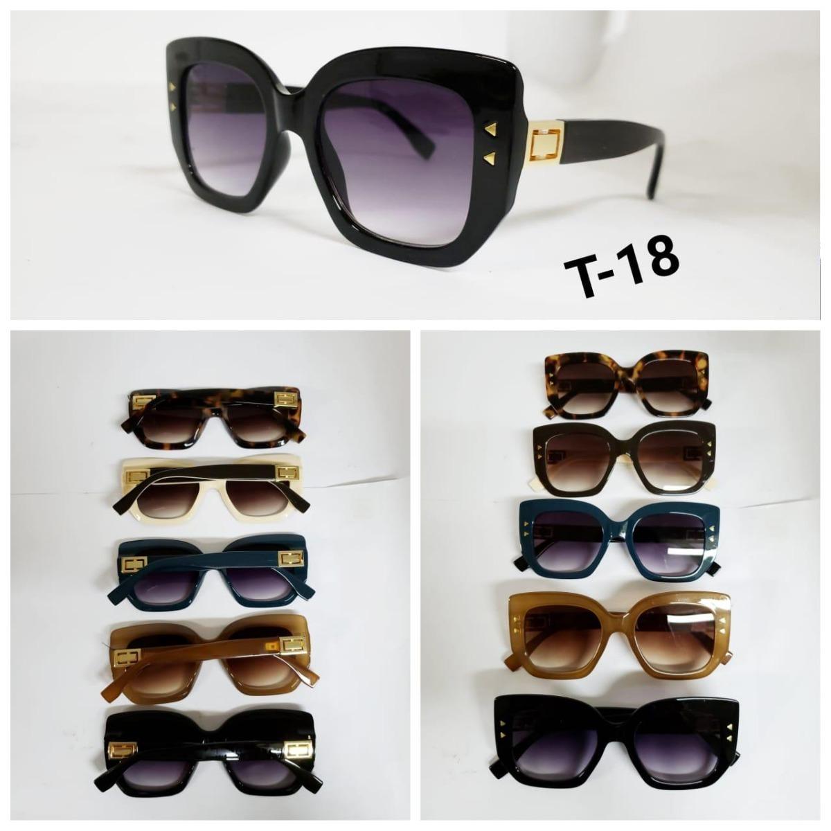 Óculos Feminino De Sol Modelo Quadrado Grande T-18 - R  44,90 em ... 14093b1140