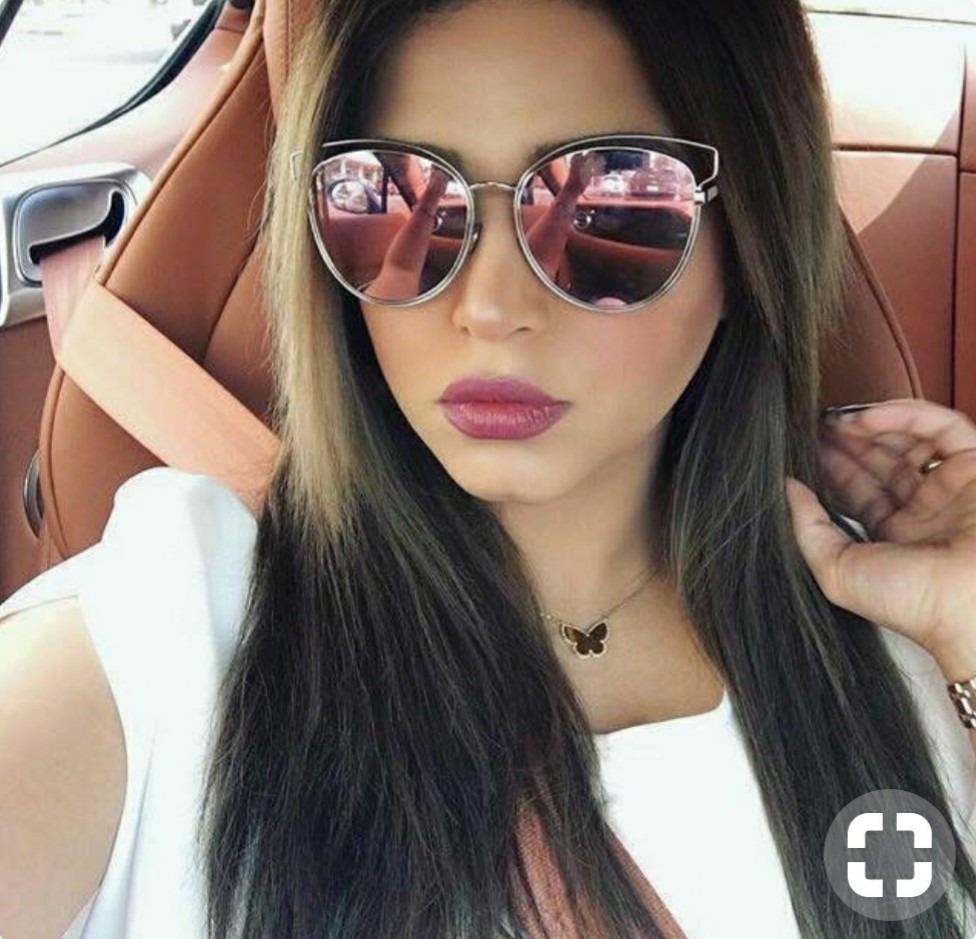 db36f09df óculos feminino de sol redondo gatinho retro marrom oncinha. Carregando zoom .