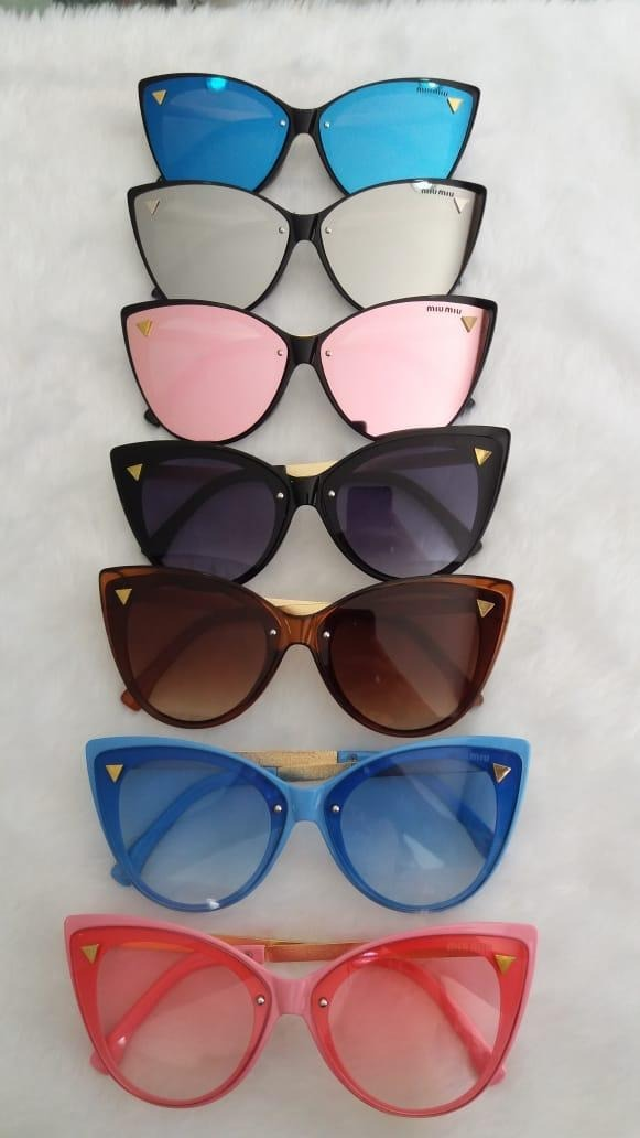 óculos feminino de sol retrô estilo cat eye mulher mod. mu. Carregando zoom. 7221264ddb