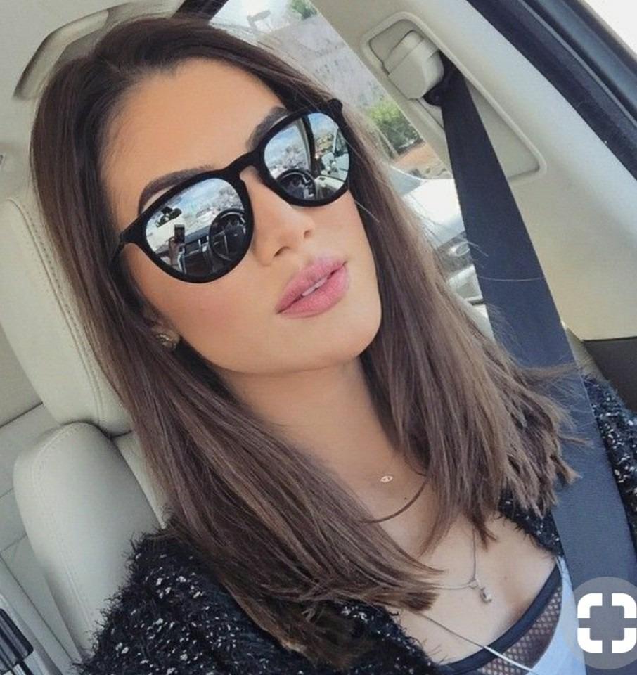óculos feminino escuro espelhado estiloso moda verão 2019. Carregando zoom. c96f0a82ba
