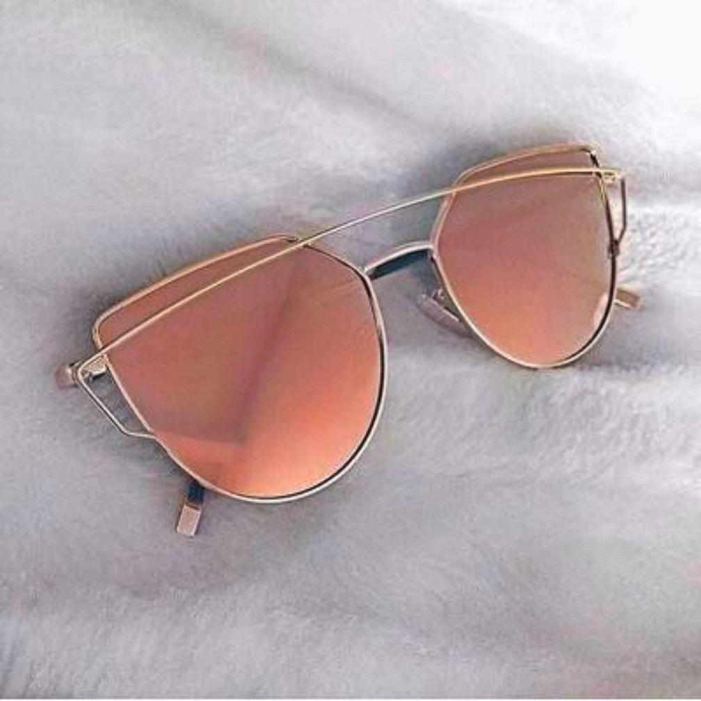 4b9615a69ab1d Óculos Feminino Espelhado Rose Rayban vintage - R  79,99 em Mercado ...