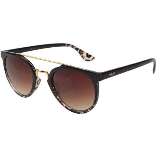 279b360719bae Óculos Feminino Euro Trendy Oc081eu 8m - Marrom - R  208,89 em ...