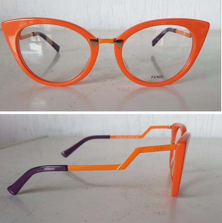 Oculos Feminino Fendi Gatinho Acetato Para Grau -fe105 - R  135,00 em  Mercado Livre fbea965230