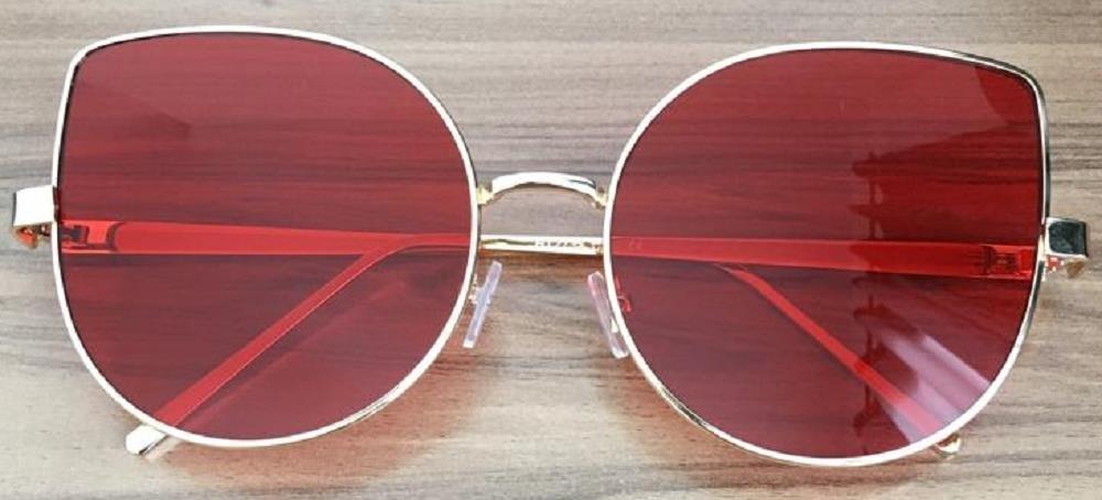 bf9d4d46c56ed óculos feminino grande gatinho redondo proteção uv400 estojo. Carregando  zoom.