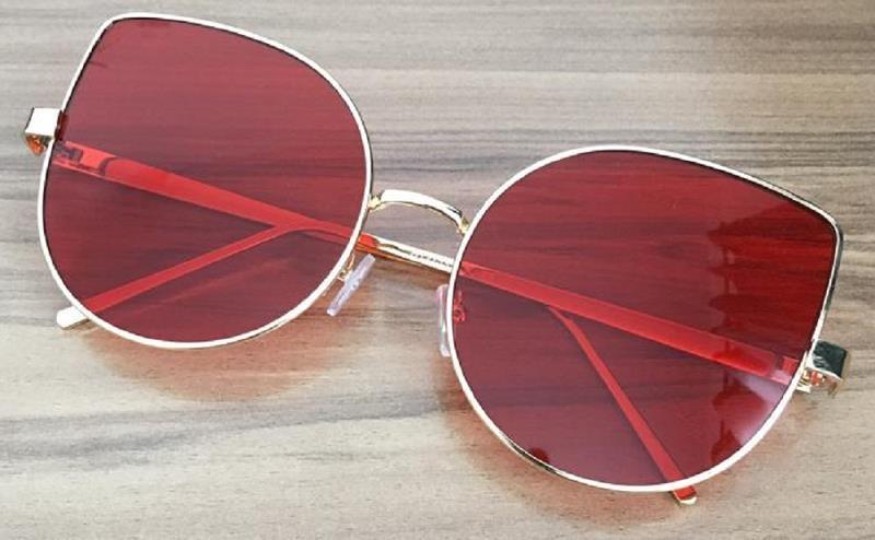 4b0aa8d003078 óculos feminino grande gatinho redondo proteção uv400 estojo. Carregando  zoom.