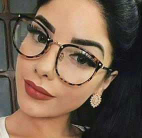 c7950a07a Oculos Da Moda Feminino Lente Transparente - Óculos no Mercado Livre ...
