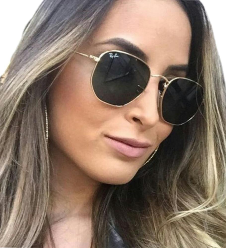 75aad46951e42 óculos feminino masculino hexagonal blogueiras promoção. Carregando zoom.