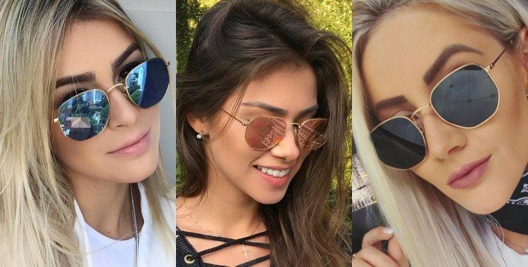 114906dbdc17e Óculos Feminino Masculino Promoção Hexagonal Moda Blogueiras - R  79 ...