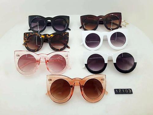 óculos feminino preto lolly espelhado sol + estojo + brinde
