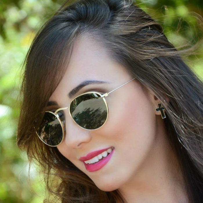 Oculos Feminino Ray-ban Round Preto Dourado Rb3447 Original - R  219 ... c9f2800b82