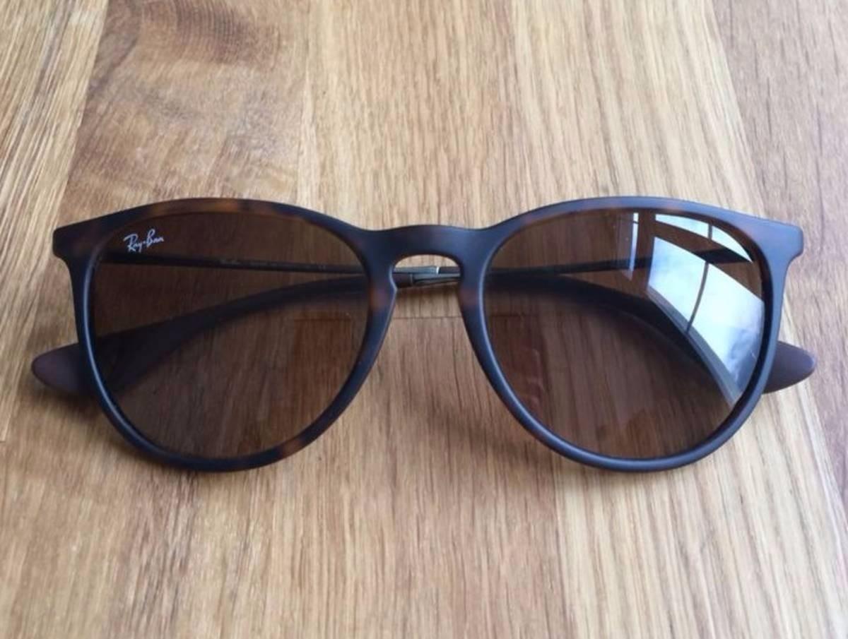 4ff69296cc417 Óculos Feminino Ray-ban Veludo Espelhado Erika Velvet Rb4171 - R  121