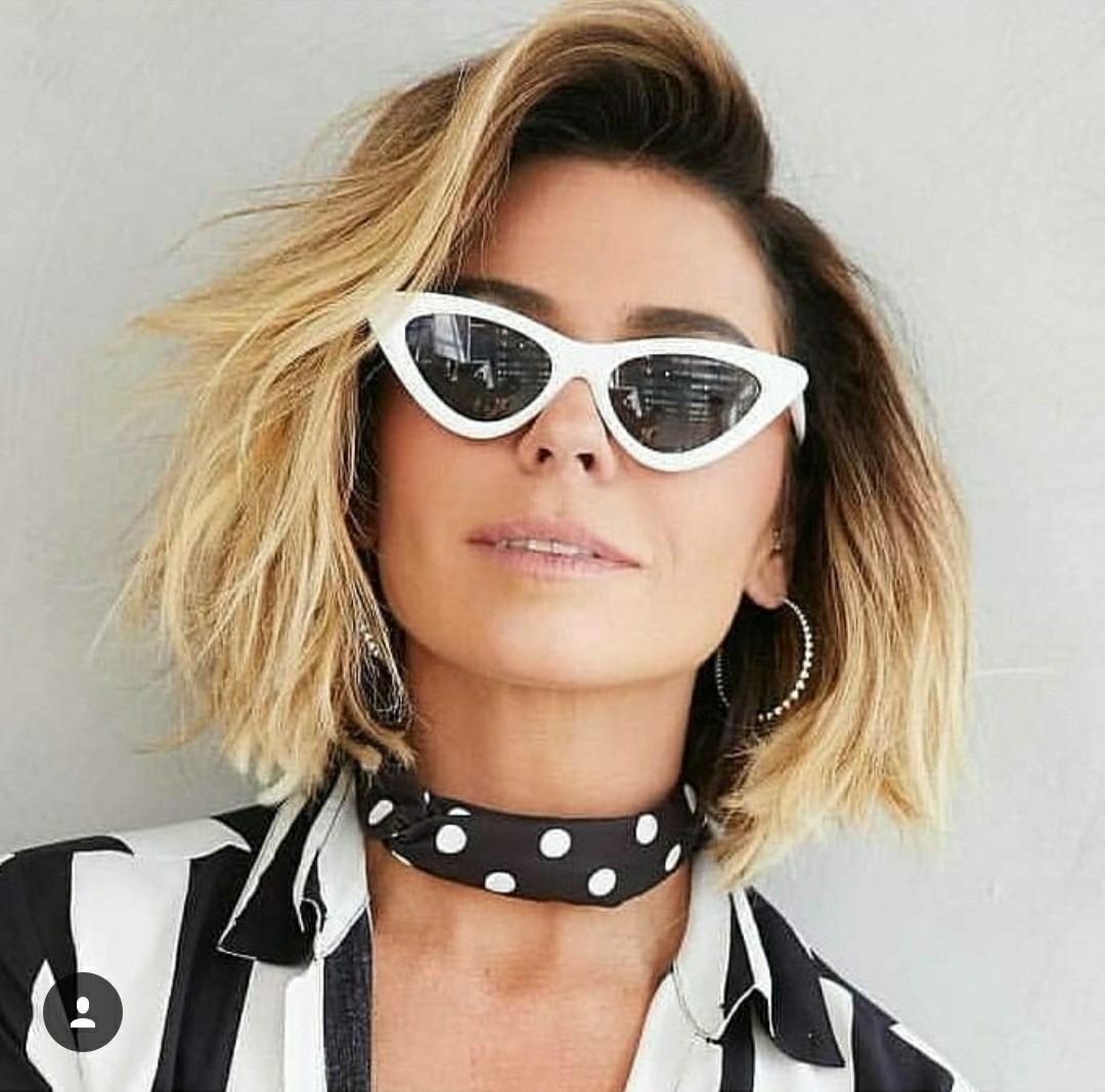 d6702b5a2 óculos feminino retro gatinho triangular flat strass luxo. Carregando zoom.