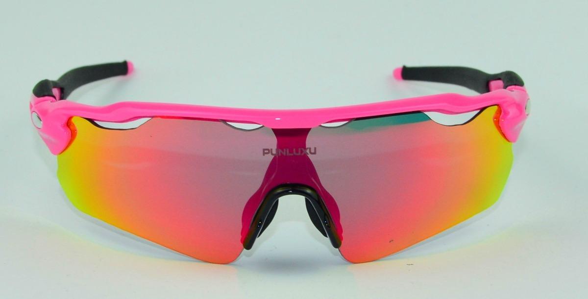e2765ced0a301 óculos feminino rosa kapvoe polarizado 5 lentes bike corrida. Carregando  zoom.