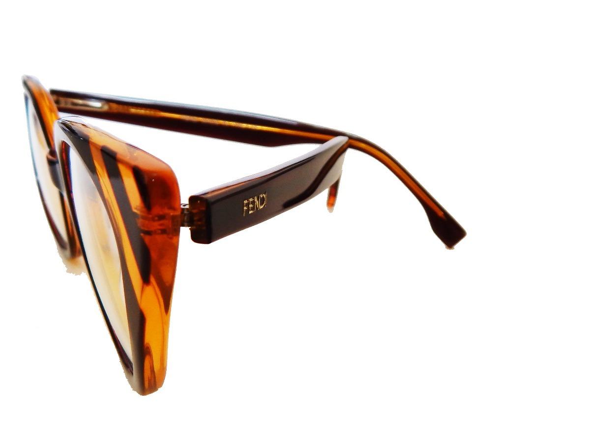 Carregando zoom... armação óculos grau fendi ff0246 feminino gatinho marrom 4b3aee5fcc