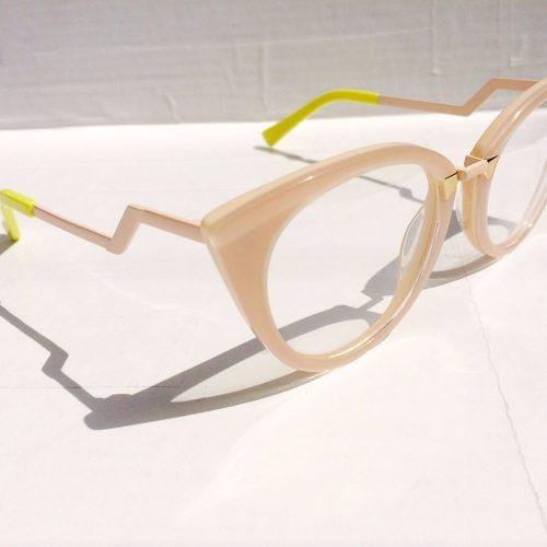 oculos fendi rose armação acetato pontas amarela feminino · oculos fendi  armação 53954b3aff