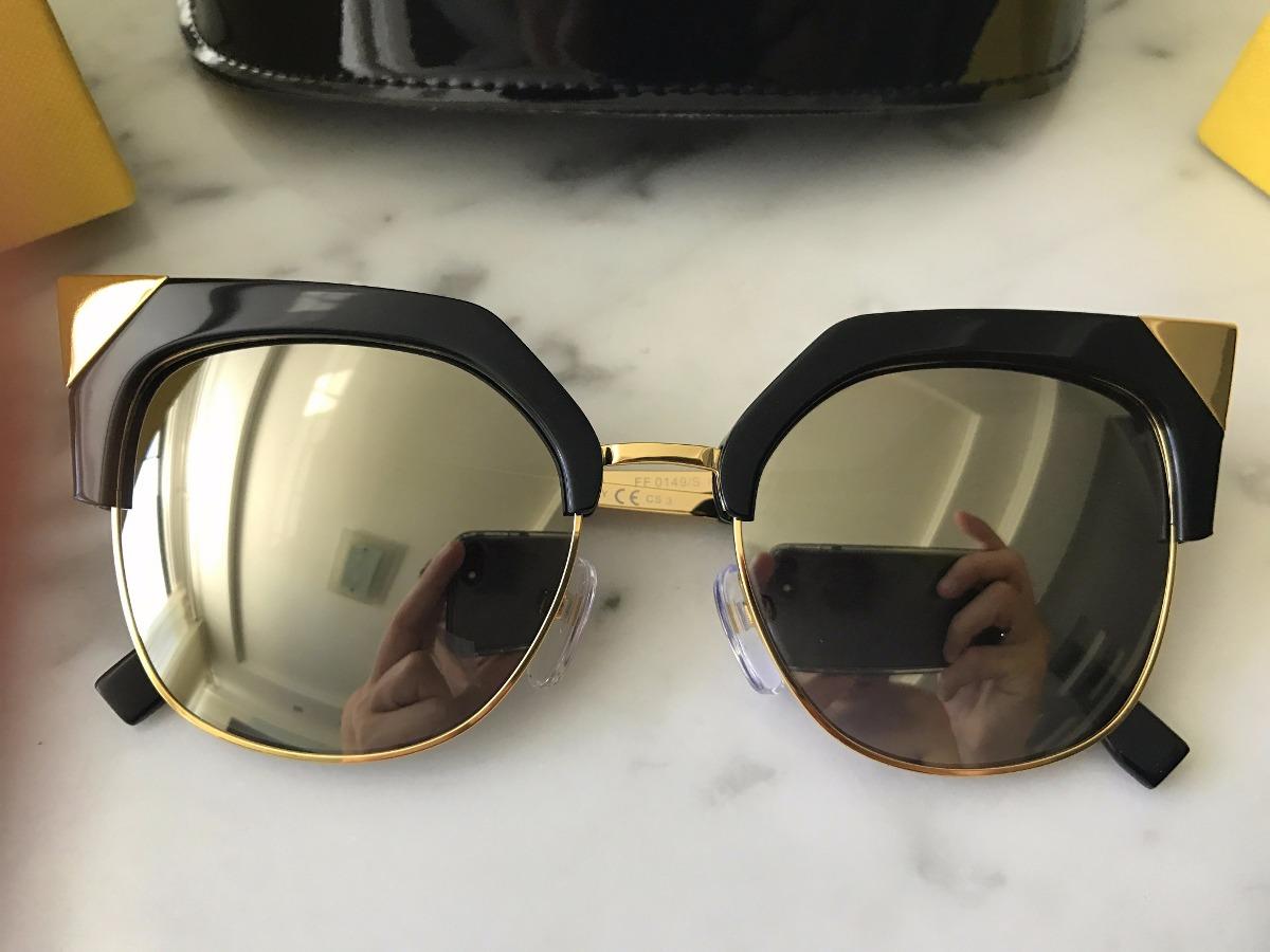 963bcfac33957 óculos fendi original ff 0149 new iridia espelhado dourado. Carregando zoom.
