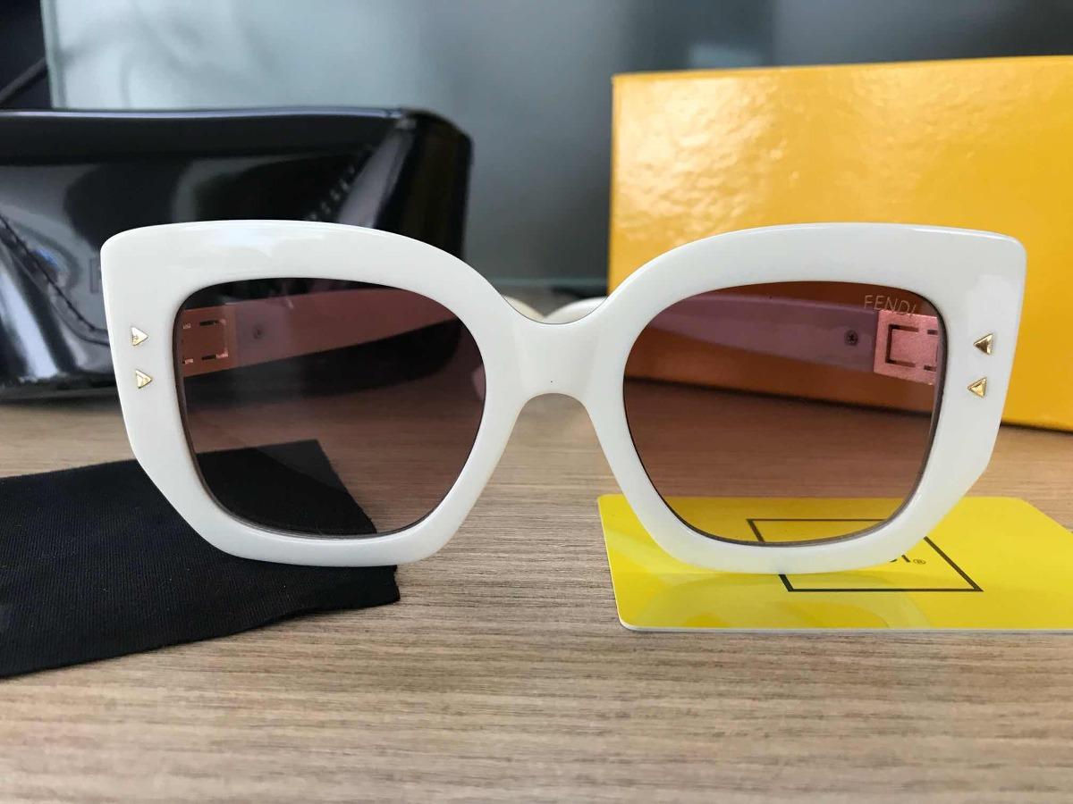 Óculos Fendi Peekaboo Bege Acetato Lançamento - R  279,99 em Mercado ... 3bd2abac01