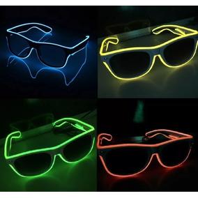 fe20949fc0aba Oculos Neon Led Lente Transparente Festas Dj Eventos Rave