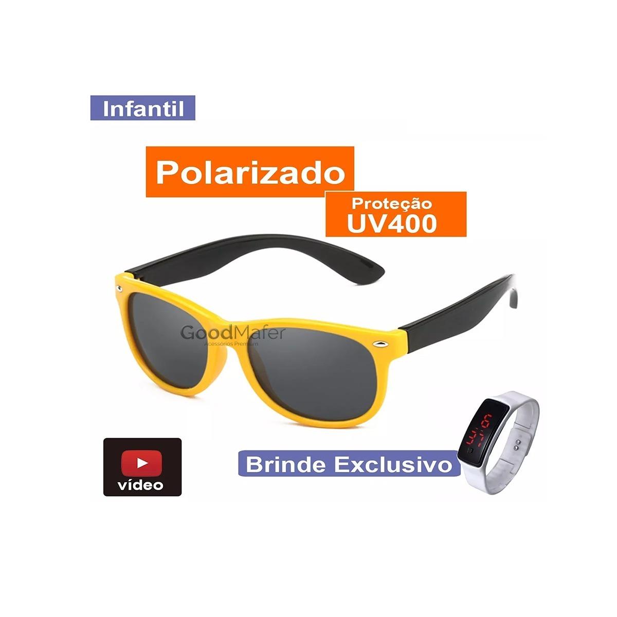 77e6289f0ce1f óculos flexível de sol crianças polarizado unissex + brinde. Carregando  zoom.