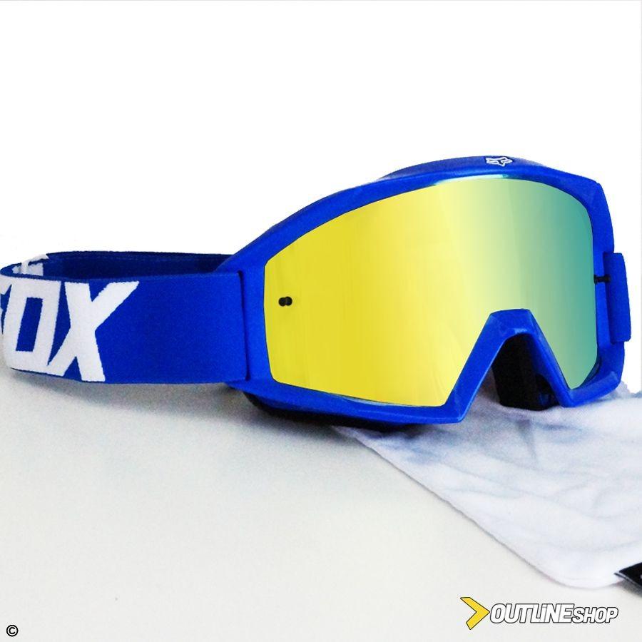óculos fox main race azul lente espelhada anti-embaçante. Carregando zoom. f9f2b517f4