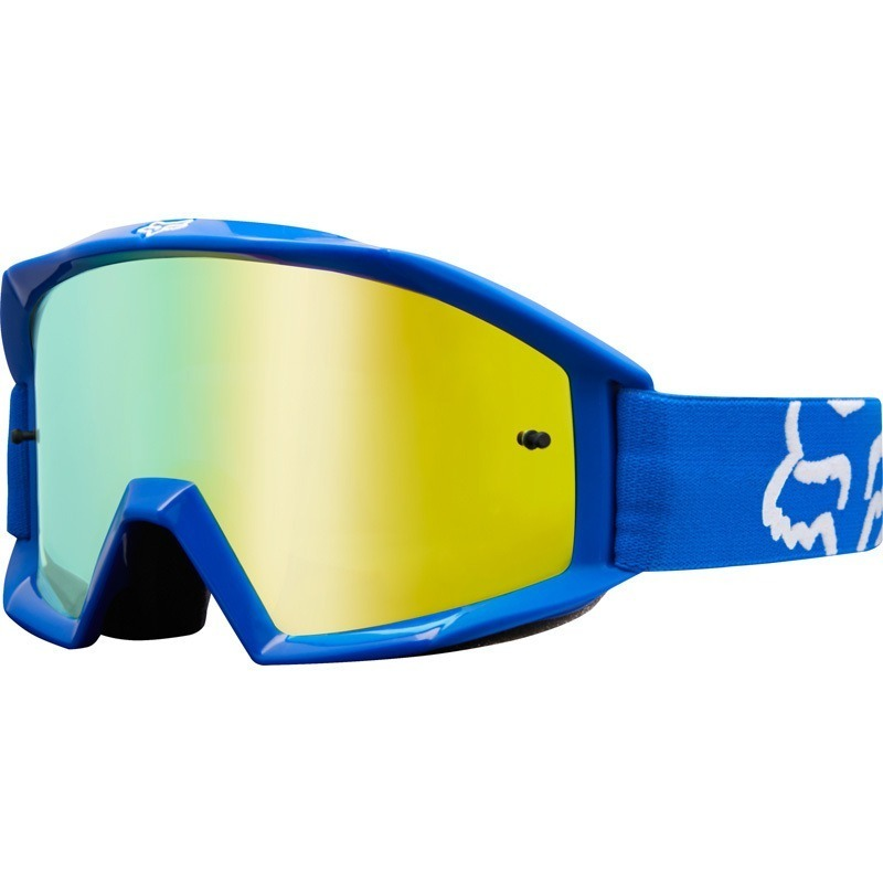 92f758cfe oculos fox mx main race azul motocros trilha lente amarela. Carregando zoom.