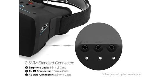 óculos fpv p/ drone new eachine vr-009 5.8g 40ch hd goiânia.