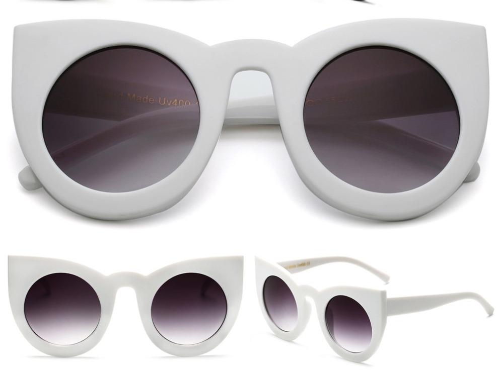 e5a493d336c2e Óculos Gatinho Branco Grande Oversized Olho De Gato - R  79,00 em ...