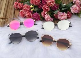 5be889fb3 Oculos Gatinho Redondo Espelhado - Óculos no Mercado Livre Brasil