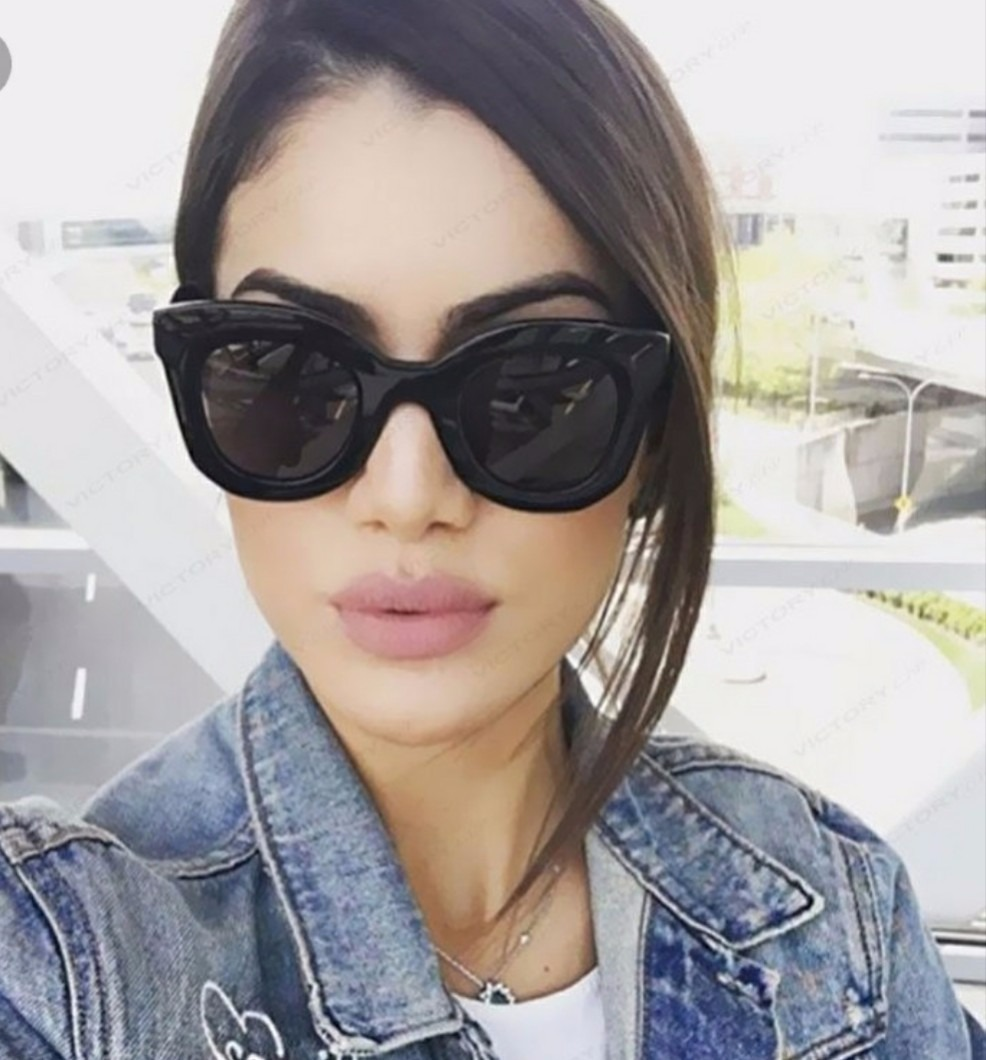 óculos gatinho estiloso famoso de sol escuro retro da moda. Carregando zoom. 9c18427091
