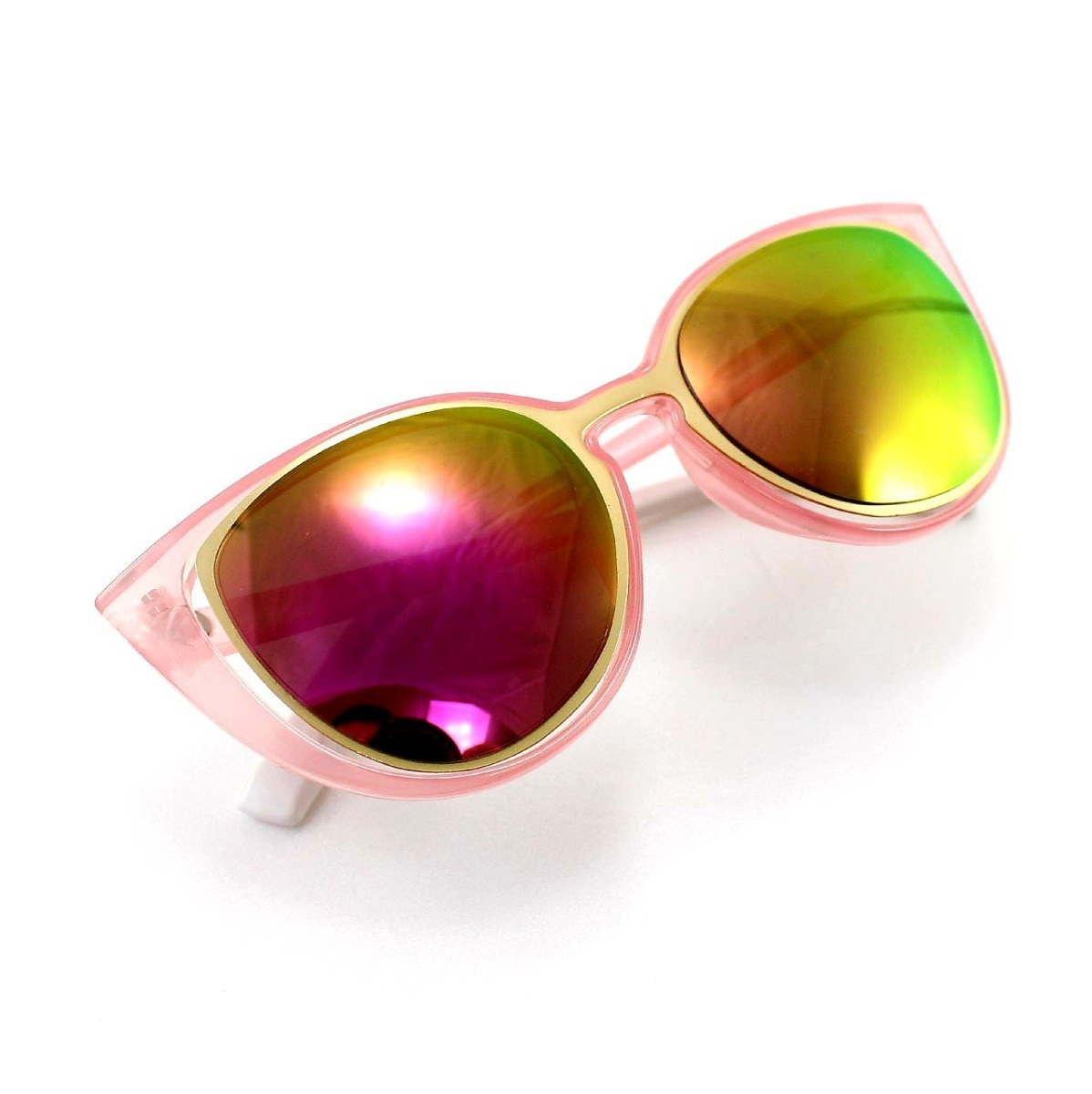 9c7b45889278b óculos gatinho rosa espelhado  brindes caixa e flanela. Carregando zoom.