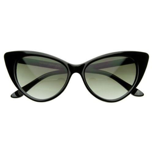 a7919d397 Óculos Gato Gatinho Cat Eye Armação De Sol Vintage Preto - R$ 70,00 ...