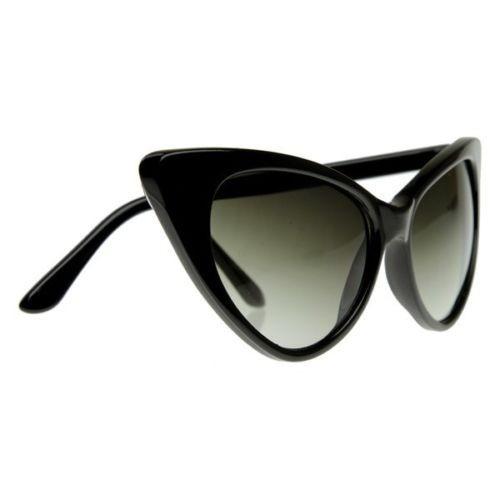 ab5cc670fdc13 Óculos Gato Gatinho Cat Eye Armação De Sol Vintage Preto - R  70