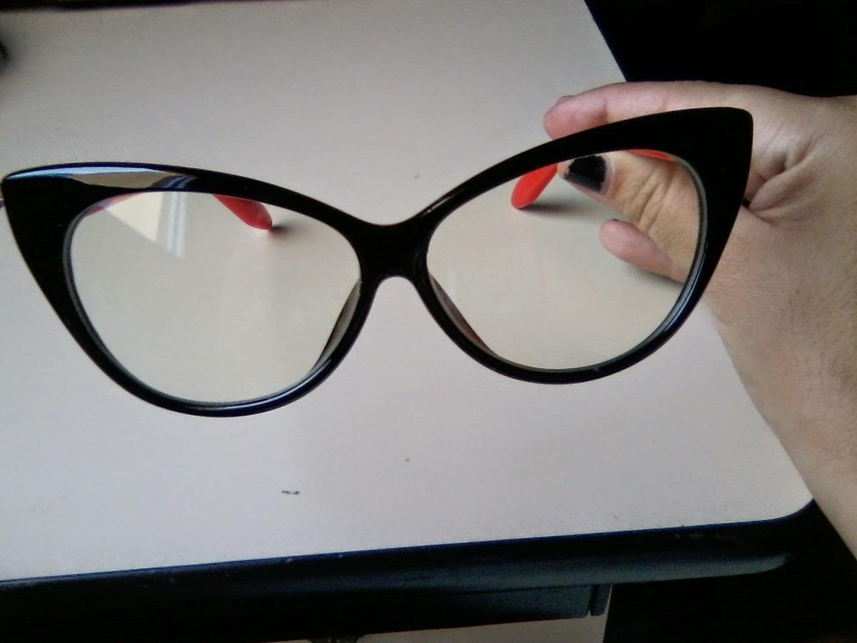 ca51a19a29161 óculos gato gatinho cat eye armação grau preto e vermelho. Carregando zoom.