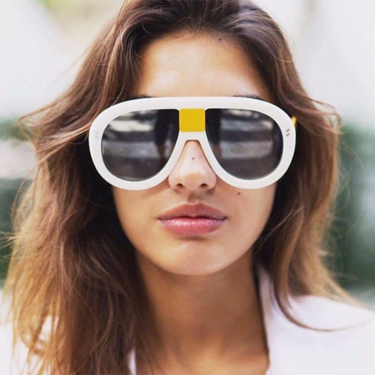 ffccd5d5a196d óculos grande dimensões branco. Carregando zoom.