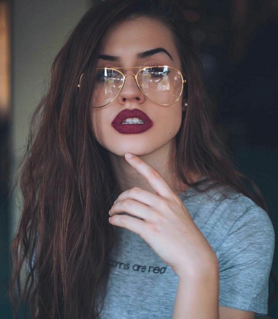 óculos grande estiloso dourado lente sem grau feminino lindo. Carregando  zoom. 4a37344e23