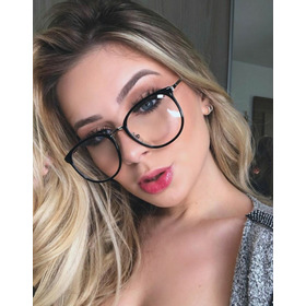 Óculos Grande Modelo Tartaruga Lente Clara Fashion Feminino