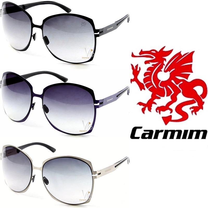 Óculos Grande Sol Feminino Carmim Preto Prata Roxo Degradê - R  689 ... eb2398a36a