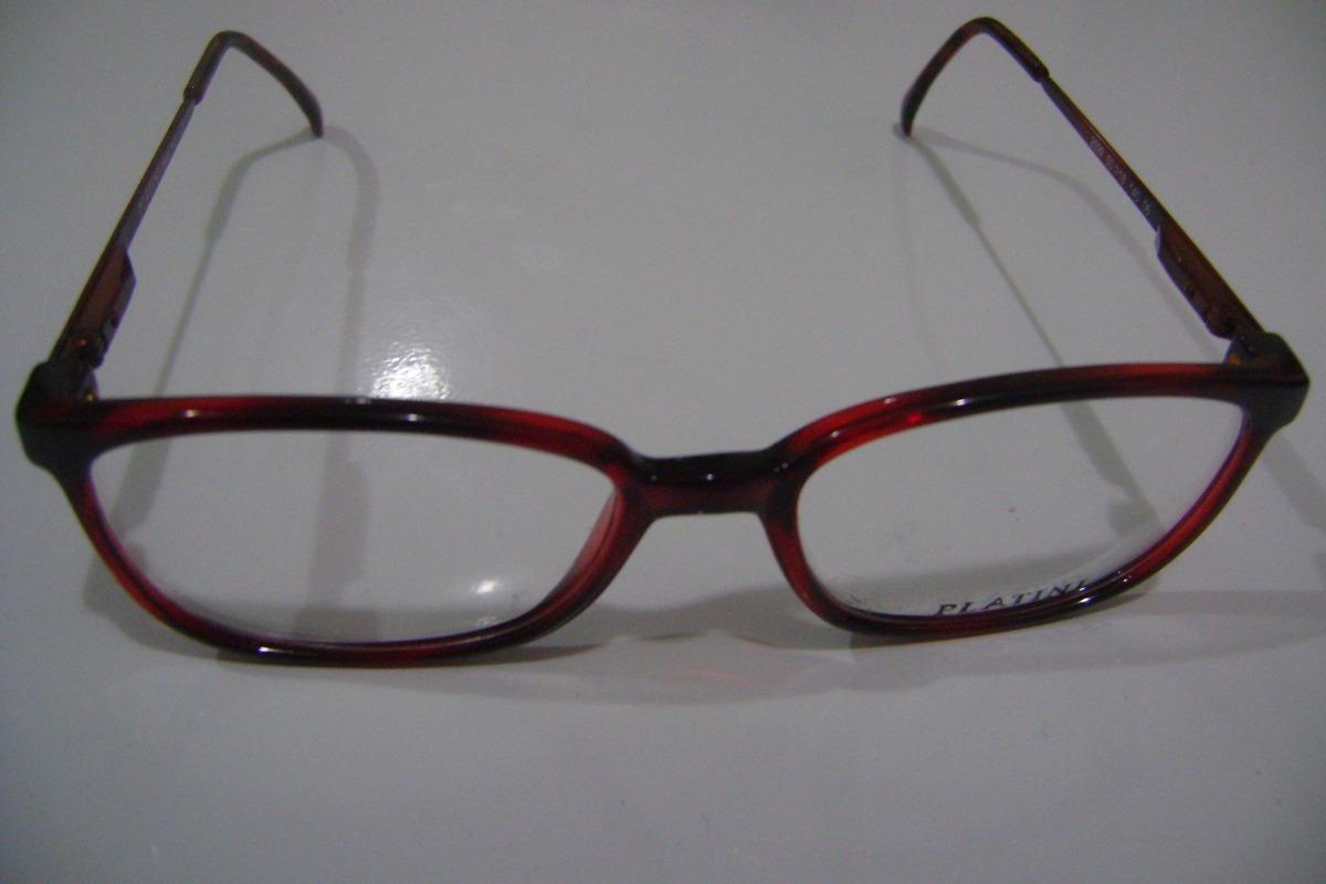 Óculos Grau, Armação,  acetato Mola Hastes Platini, M-2599b - R  63 ... 0a3cbcb7b3