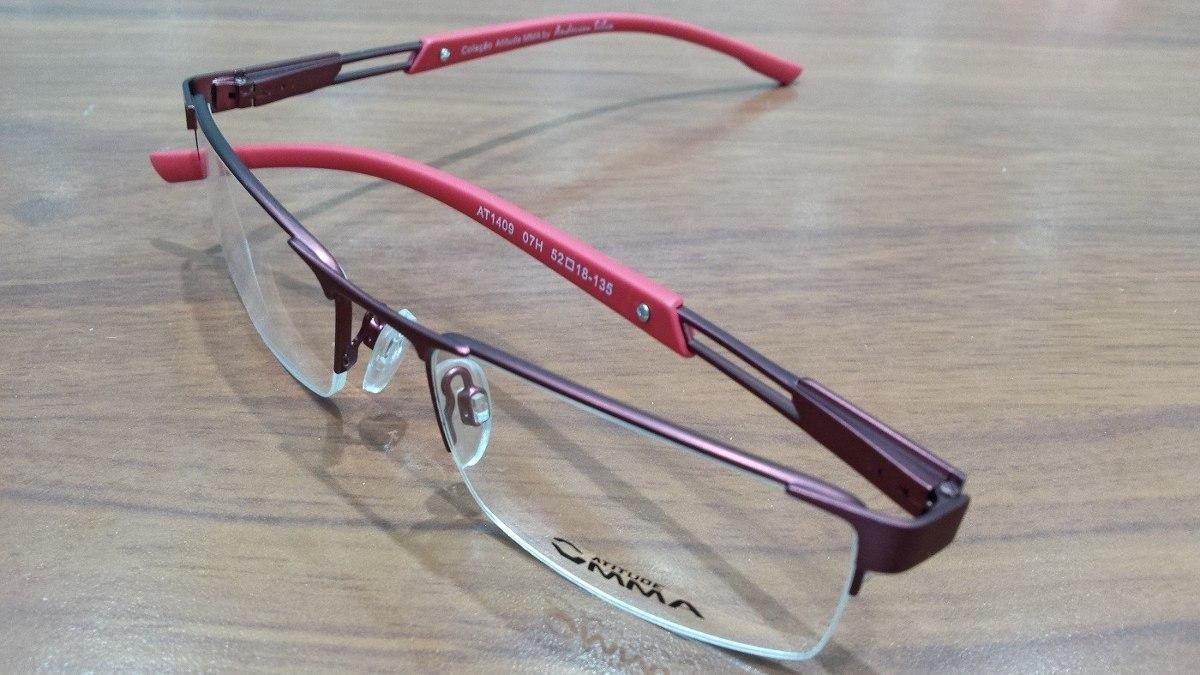 6fb28297c Óculos Grau Atitude Mma Anderson Silva At1409 07h Go - R$ 269,99 em Mercado  Livre