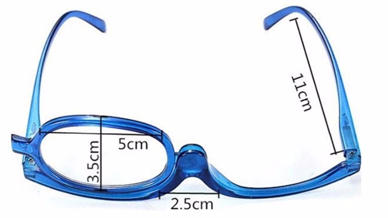 dbf1c06411cb5 Óculos Grau Com Lente Móvel Auto Maquiagem Aumenta 3