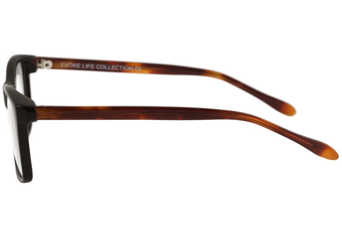 b4d041c1a00da Evoke Life I - Óculos De Grau A01 Black Shine Temple Turtle - R  229 ...