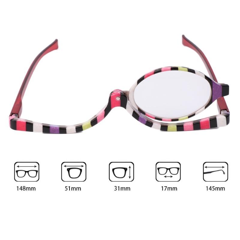 a84de788d6a2c Óculos Grau Lente Móvel Auto-maquiagem Aumenta +3