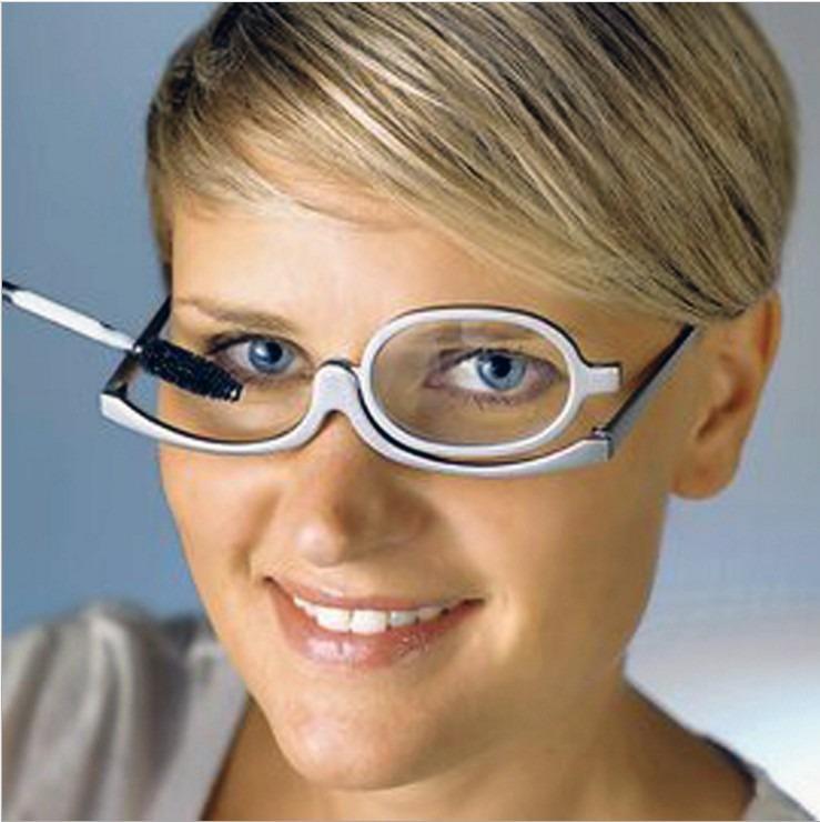 ab6ab72b2 Óculos Grau Lente Móvel Maquiagem Aumenta 1.5 Olhos Lupa - R$ 45,60 em  Mercado Livre