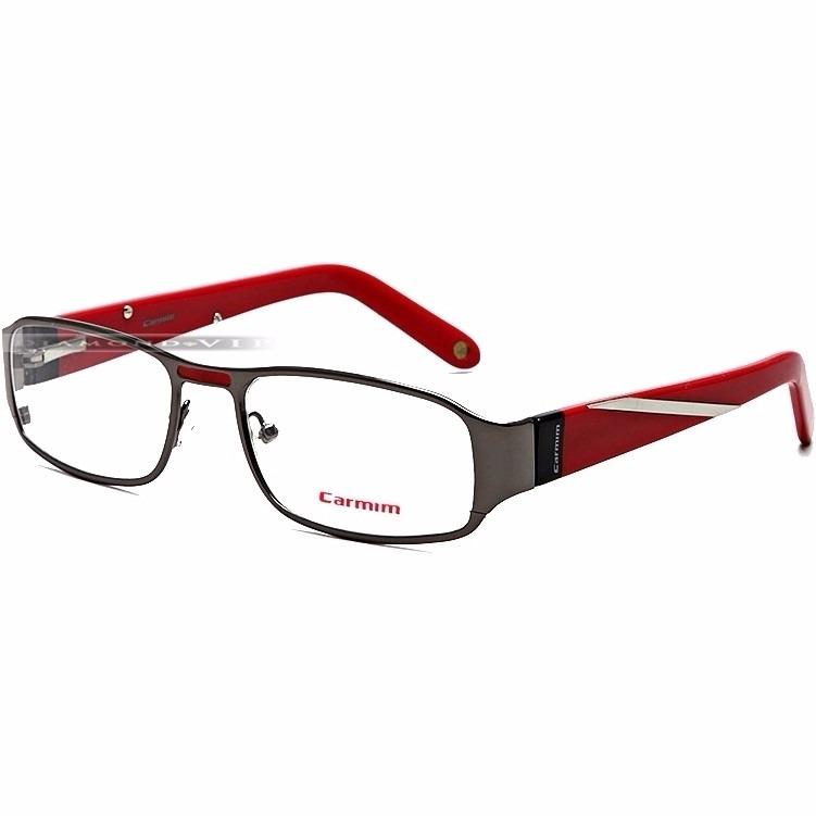 Óculos Grau Masculino Carmim Armação Vermelho Prata Original - R  649,99 em  Mercado 4c7ebfcbbb