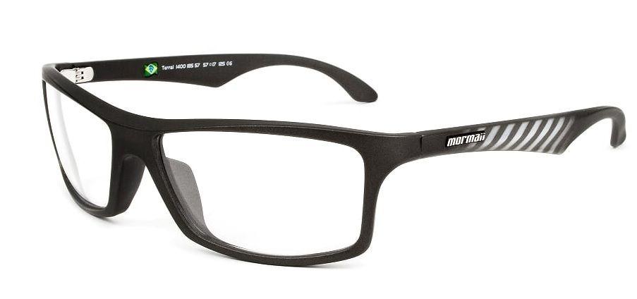 Armação Oculos Grau Mormaii Terral 140018557 Grafite Fosco - R  169 ... 9837bfd2c8