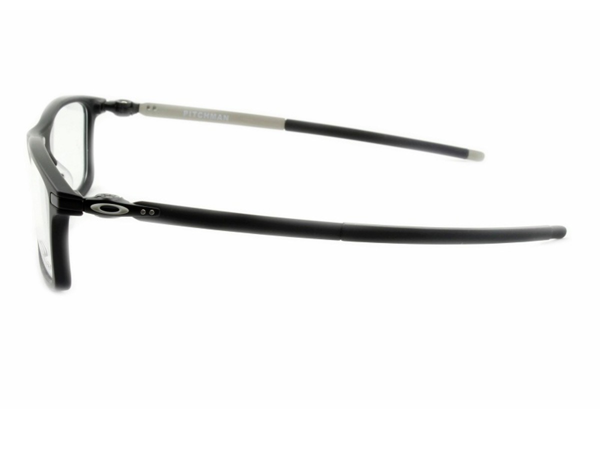 37d83aa4009bb Óculos Grau Oakley Pitchman Satin Black Ox8050 01 - R  399