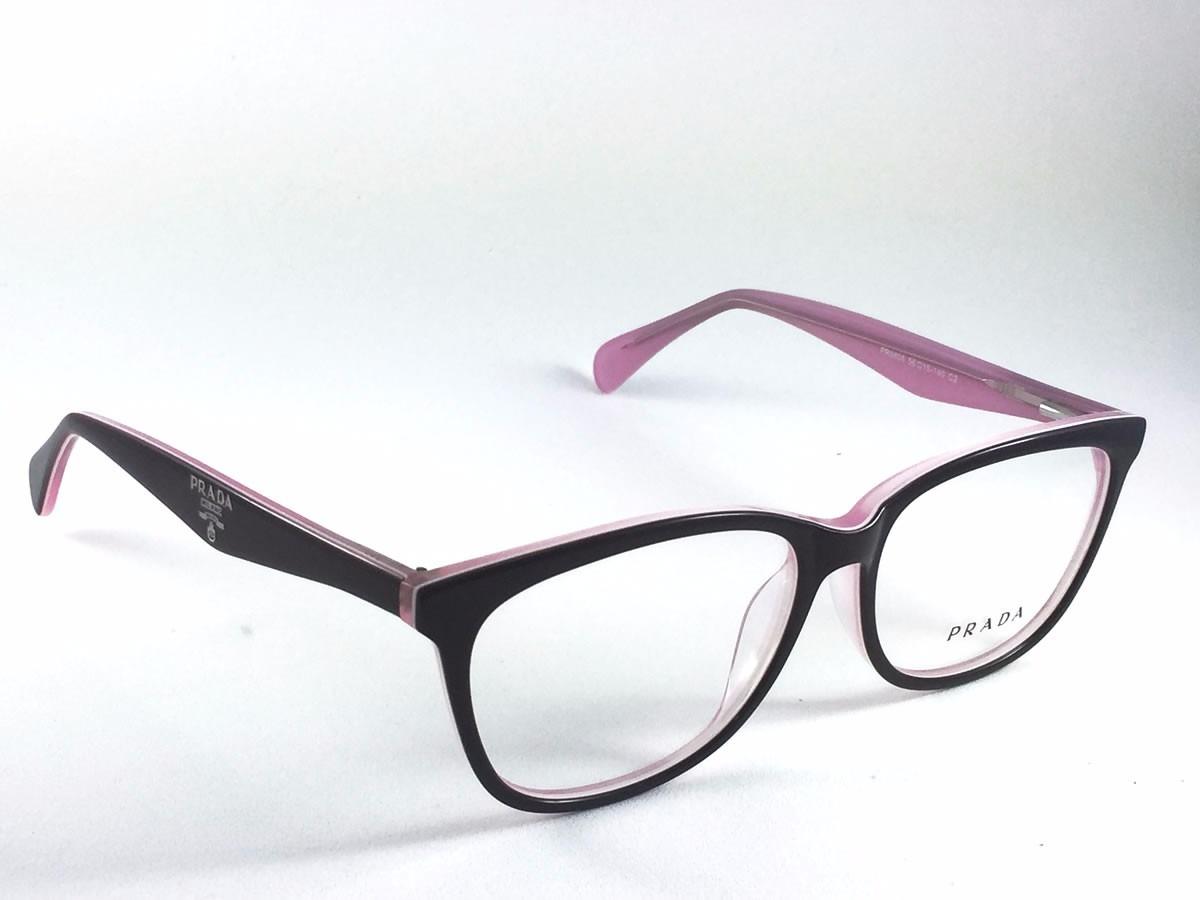 001bf6252267c Óculos Grau Armação Prada Feminino Acetato - No Brasil - R  99