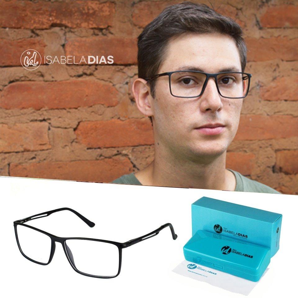 oculos grau quadrado masculino armação sem grau 2018 17004. Carregando zoom. 7e59d1ed49